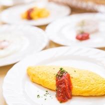 朝食バイキング 新鮮卵の出来立て料理