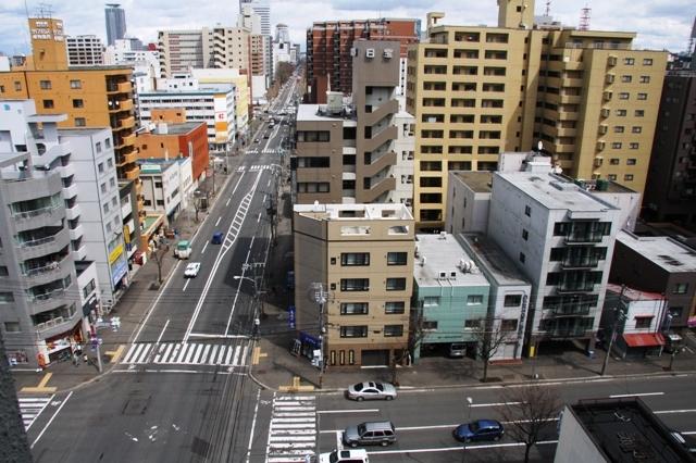 ホテルから札幌駅方面を望む