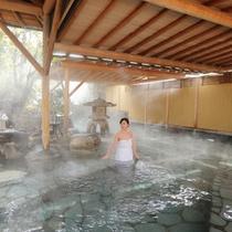 庭園風呂(モデルあり)
