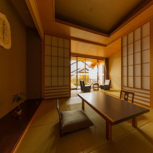 天然温泉100%露天風呂付客室(客室の一例)