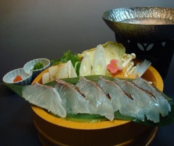 仙崎産鯛のしゃぶ鍋
