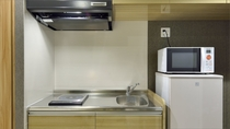 【MAIN TOWER】長期滞在が可能なコンフォートルームのキッチンスペース