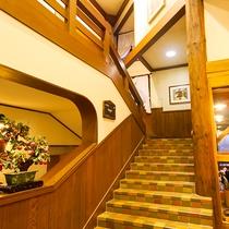2階に上がってレストランへ