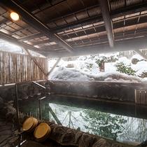 冬の男湯露天風呂