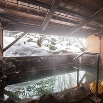 冬の女湯露天風呂