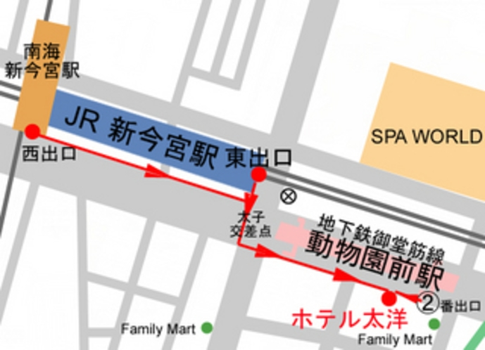 最寄駅からの地図