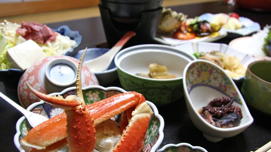 *夕食一例/地元の旬の食材を使用しております。