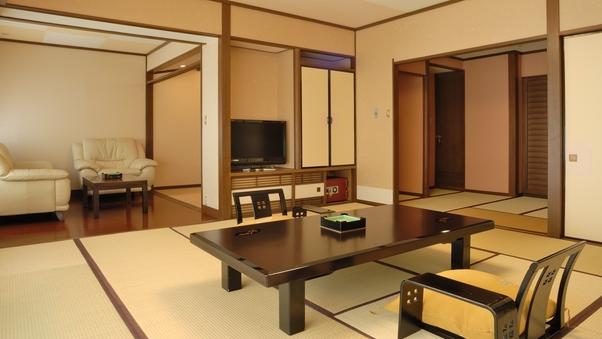 最上階和室「雅の間」64平米(禁煙/12畳+4.5+LV)