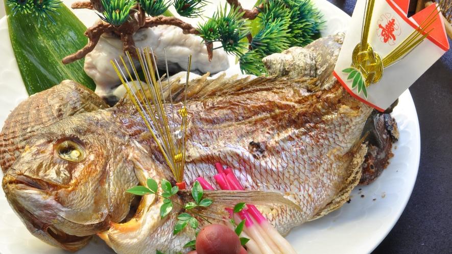 食事_寿プラン_鯛の尾頭付き