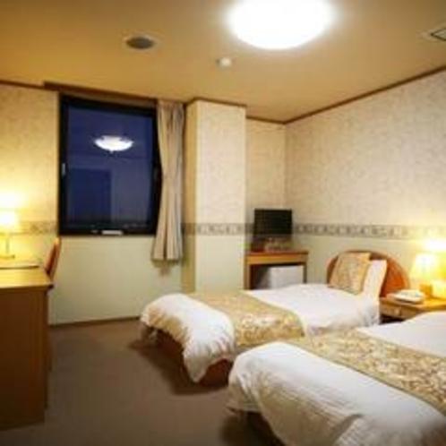 【新館ツイン♪】ベッド2台。連泊でお得なプランあります♪