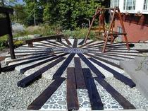 落ち着く庭のテラス