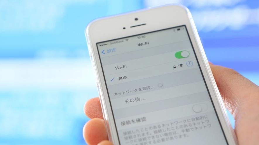 全館/客室Wi-Fi接続無料(要パスワード)