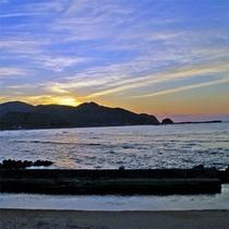 八丁浜夕景