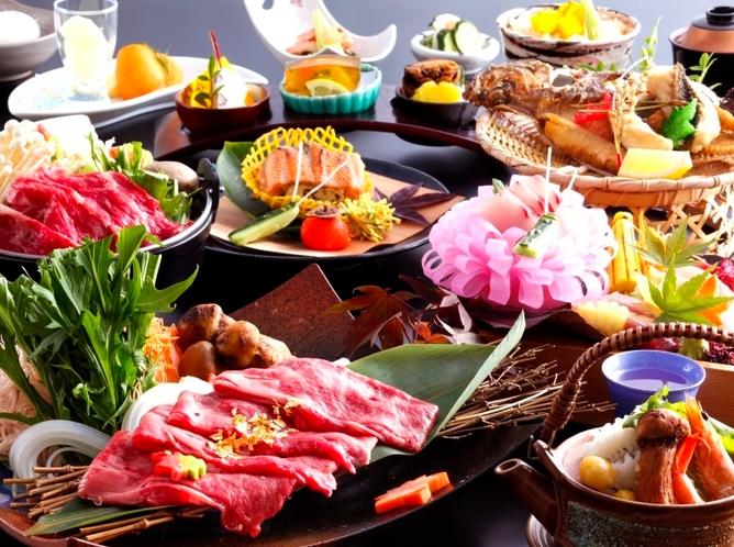 秋の収穫祭~すき焼き会席~のお料理例