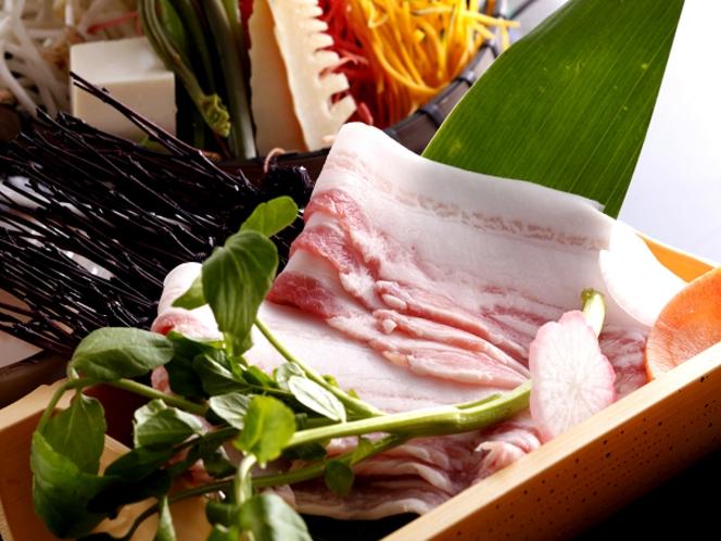 八鹿豚と春野菜のしゃぶしゃぶ