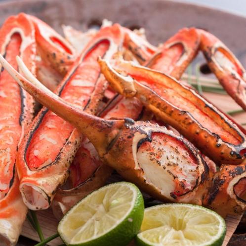 香ばしい焼き蟹