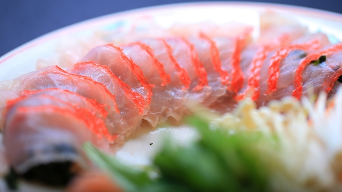 鮮度抜群!伊豆金目鯛のしゃぶしゃぶ×お造り5点盛り色彩-IroIro-食べられる海鮮会席
