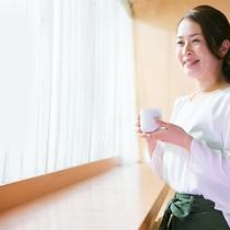 ■日の光が差し込む喫茶室で楽しむ100円朝食■