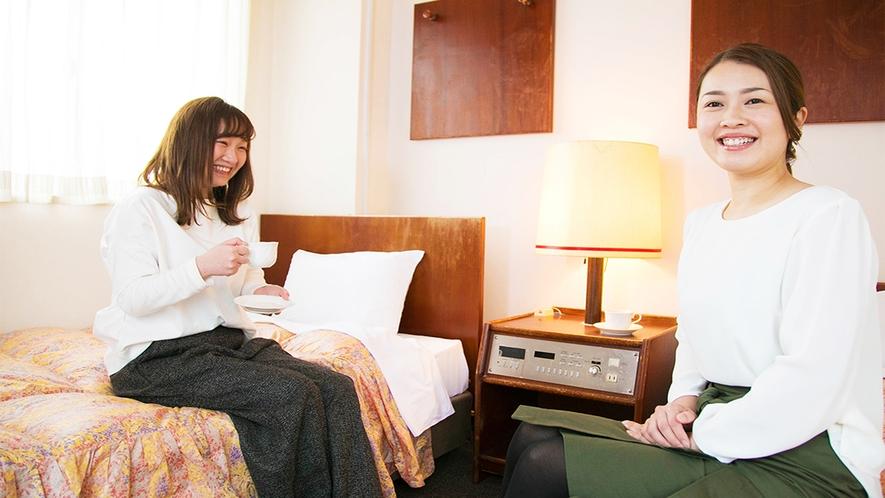 ■お部屋でホッと一息♪フロントにて24時間珈琲無料♪■