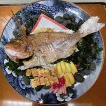 食事: 祝い鯛(イメージ)