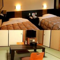 客室: 洋室または和室(8畳) ※一例です