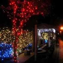 観光(湯田温泉): 足湯(湯の香通り) ライトアップ