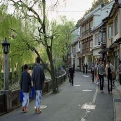 温泉街の景色(北柳通り)