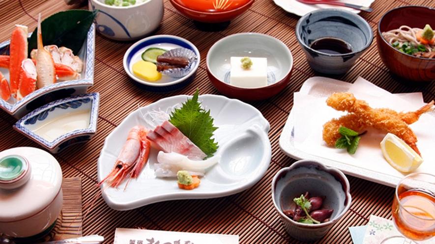当館一番人気!海の幸満載会席!鮮度にこだわった魚介が人気です!!