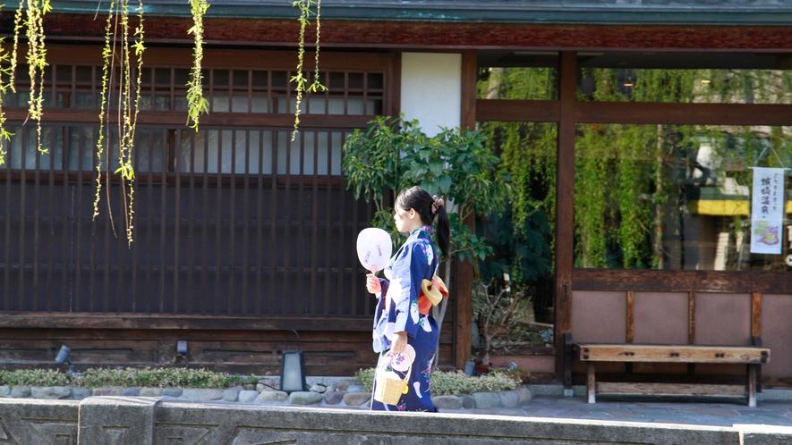 ご宿泊者様には城崎温泉湯めぐり券をお渡ししております。