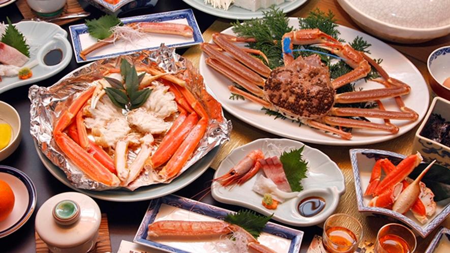 本格カニフルコース。様々な調理法の蟹料理をお腹いっぱい♪