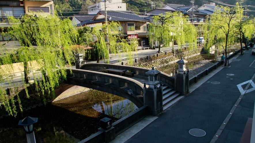 城崎温泉の中心地に当館はございます♪