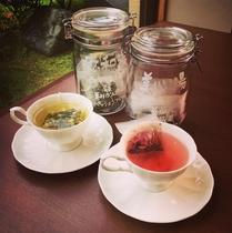 地元朝日町の古民家カフェ「ハーブと喫茶HYGGE(ヒュッゲ)」さんとコラボ!オリジナルハーブティ