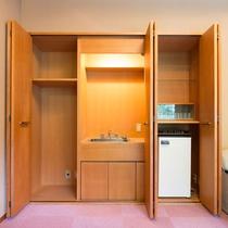 【準貴賓室】ミニキッチンを併設。パーティーや2次会としてもお使いいただけます。