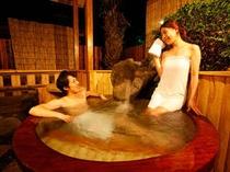 【平屋離れA2/はなみずき】和洋室<ツイン/喫煙>和室6畳(48㎡)露天風呂(丸風呂・ブロアバス)