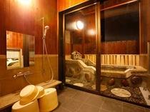 【平屋離れA1/さくら】和洋室<ツイン/禁煙>和室6畳(48㎡)露天風呂(加治木石)シャワールーム
