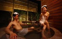 【露天風呂付離れ/優湯亭】2階建て内湯付<ツイン/喫煙>菖蒲(露天風呂・桜御影石)