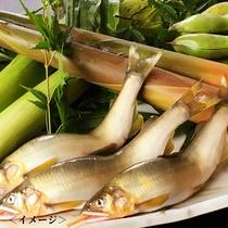 鮎の塩焼きや鱧に加え、瑞々しい夏野菜など、夏ならではの素材の旨みをご堪能ください(写真はイメージ)