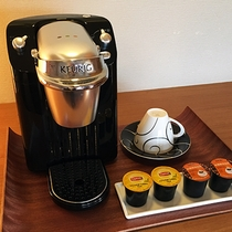 本館客室 和洋室(桜島・高千穂)にコーヒーサーバー(Keurig FE社製)を設置