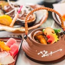 【秋の実り会席】実りの秋、食欲の秋ならではの味覚をお愉しみください(写真はイメージ)