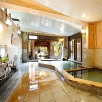 檜大浴場/女性浴室(源泉100%加温無しの掛け流し)