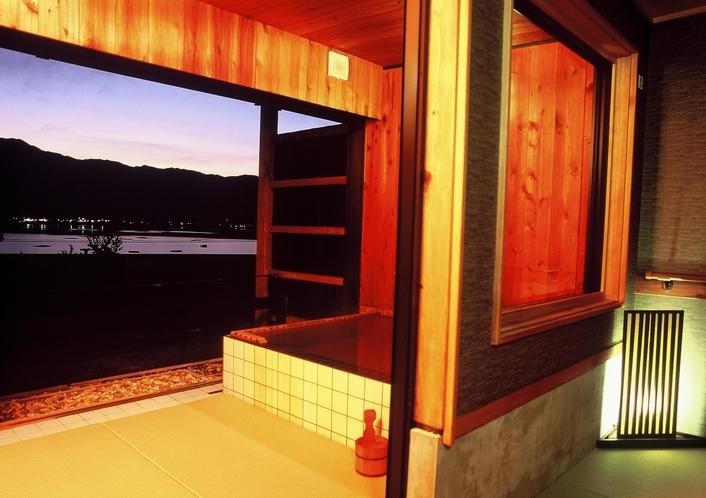 個室貸切露天風呂風呂「湯楽長屋」 浴室