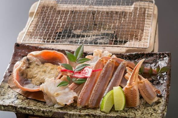 【鳥取賀露港または島根隠岐から直送】タグ付き活松葉蟹プラン