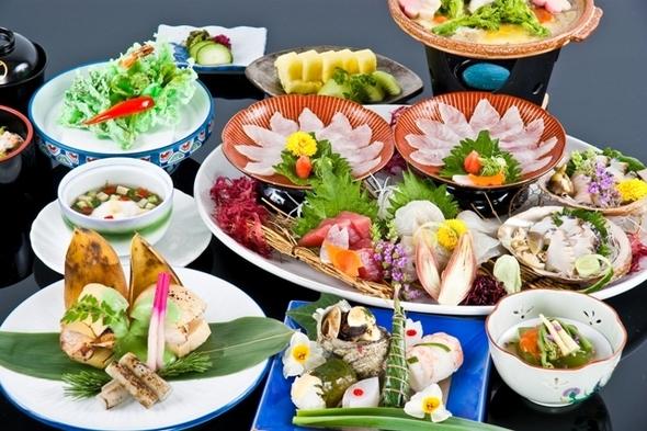 地元食材を使った四季会席料理(月替り)【伊勢志摩プラン】(伊勢海老・鮑は別注文です)