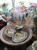 湯けむり「竜宮プラン」大浅利とサザエの陶板焼き・海鮮丼