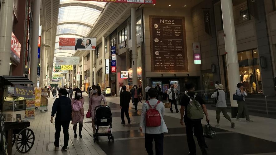 上通アーケード◇熊本文教発祥の地であり、歴史と文化の街と言われています。