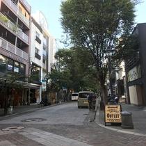 並木坂◇上通アーケードの終点から北に延びる並木通り、昔ながらの書店やおしゃれなレストランがあります。