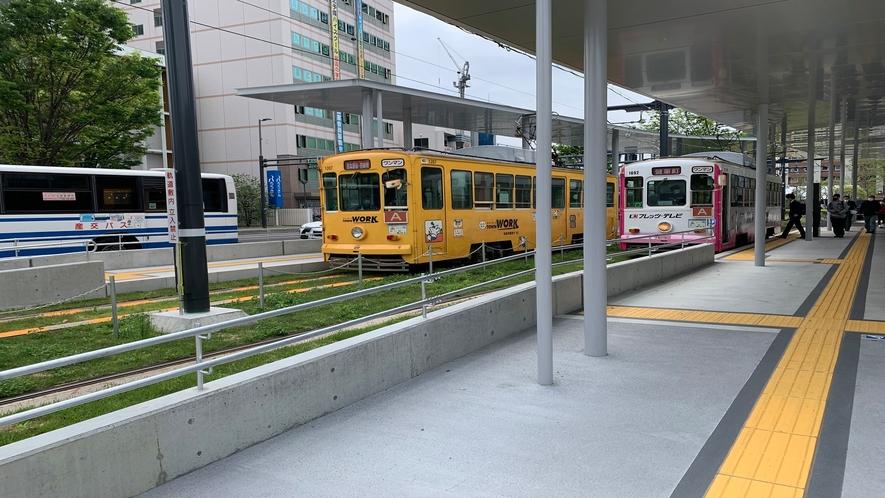 路面電車◇熊本城や繁華街へも移動できます!所要時間:10分程