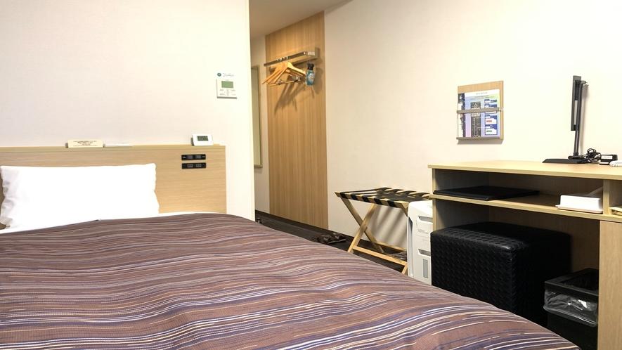 シングルルーム(ベッドサイズ120×195㎝)◇全室Wi-Fi接続無料・加湿空気清浄機付き