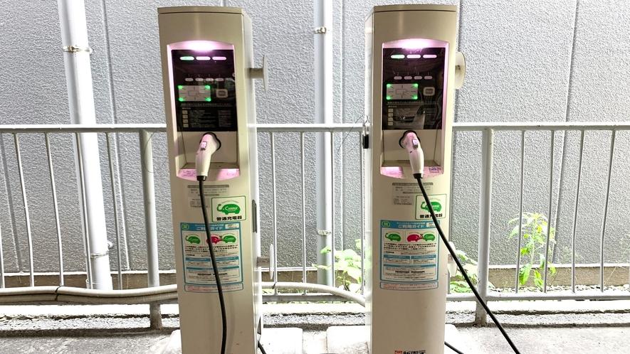 電気自動車優先スペース◇立体駐車場内に2台ご準備しております