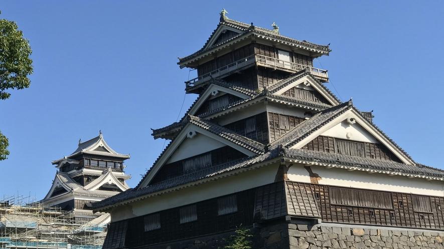 熊本城◇熊本駅から路面電車で約10分。天守閣からの街の眺めは絶景です!